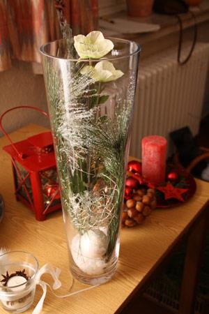 Adventliche dekoration - Deko glas lichterkette ...
